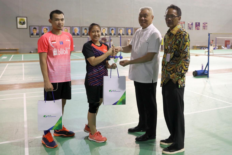 Indonesian badminton national athletes protected by BP Jamsostek