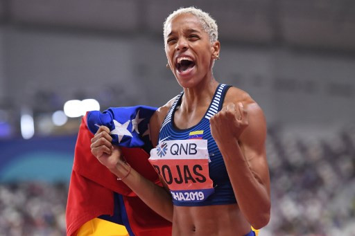 Venezuela's Rojas sets new indoor women's triple jump world record