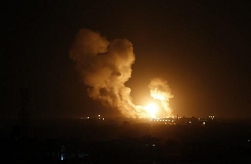 Israeli warplanes hit Gaza, Syria after Palestinian rocket barrage