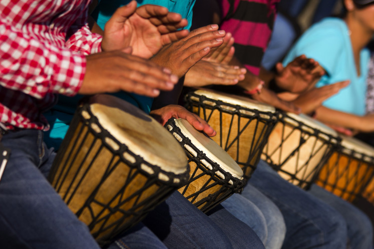 Hundreds of djembe drum producers in Blitar stop production because of COVID-19 outbreak