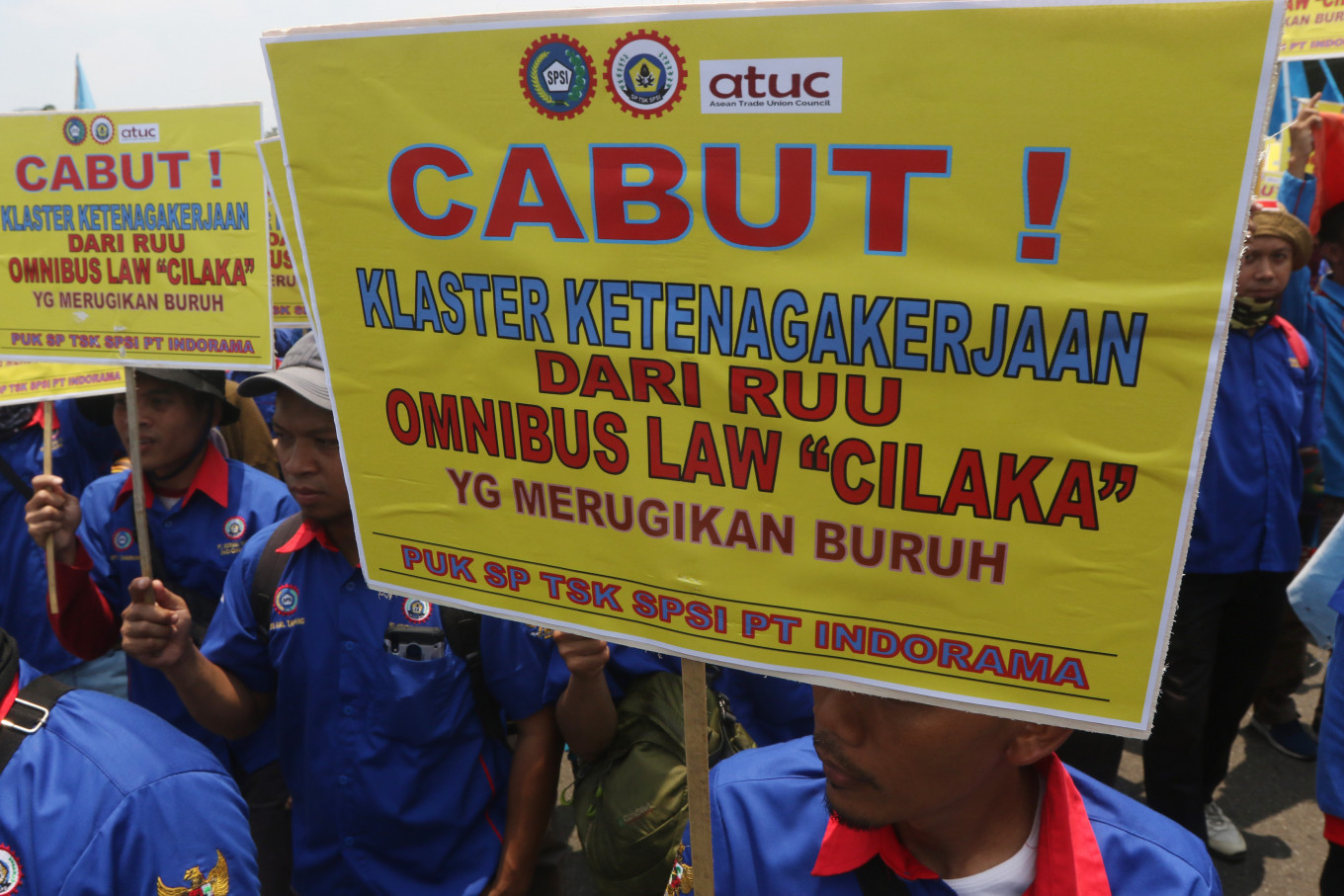 Indonesia stands firm on omnibus bill amid mounting withdrawal requests