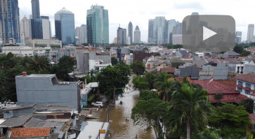 Widespread flooding in Greater Jakarta causes chaos