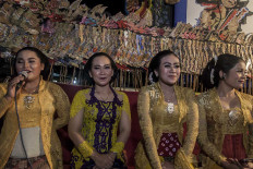 The only role in wayang performance that is specially reserved for women is sinden singer. JP/Irene Barlian