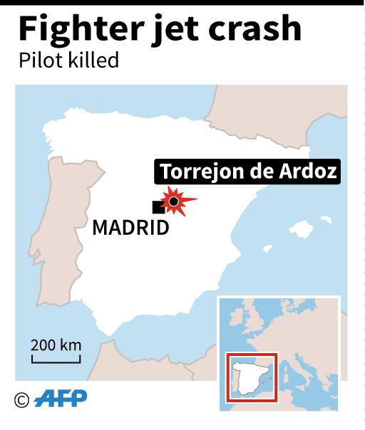 Spanish military pilot dies as plane crashes into sea
