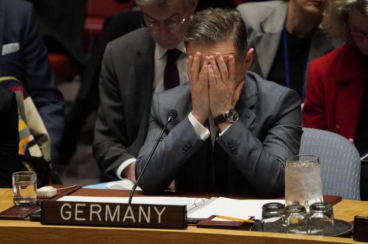 German Foreign Minister Heiko Maas attends the United Nations Security Council meeting on Syria (humanitarian) at the United Nations on February 27, 2020 in New York.