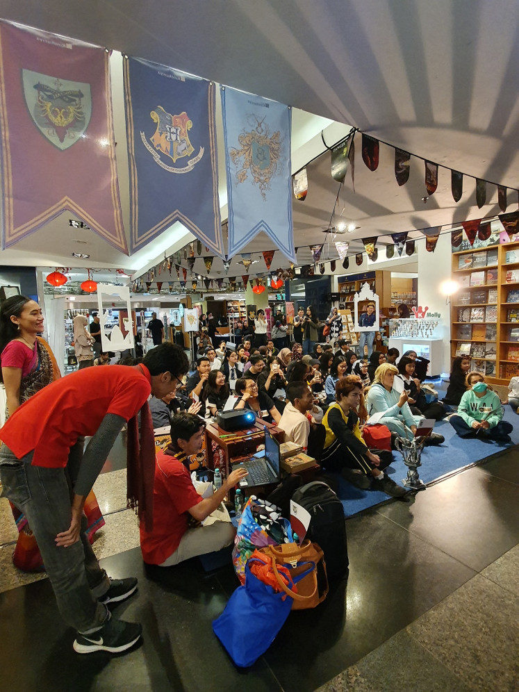"""Fan reunion: Potterheads have a blast at the """"Harry Potter Book Night"""" ."""