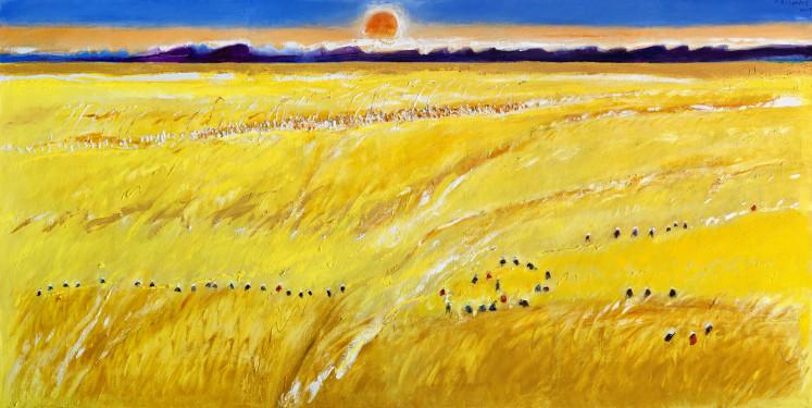 'Horizon – The Golden Harvest' (2018) by Srihadi Soedarsono.
