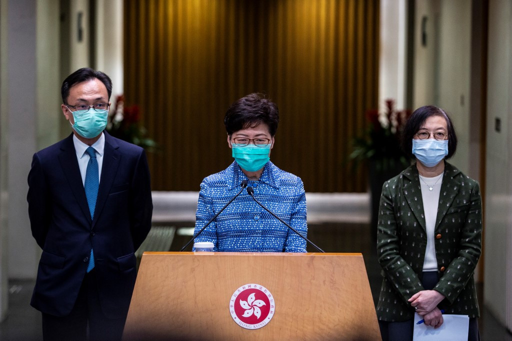 HK chief says opponents of security law are 'enemy of the people'