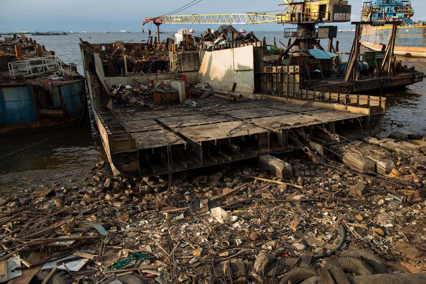 Final port: A ship is dismantled at a terminal in Jakarta on Feb. 13/2020. JP/Afriadi Hikmal