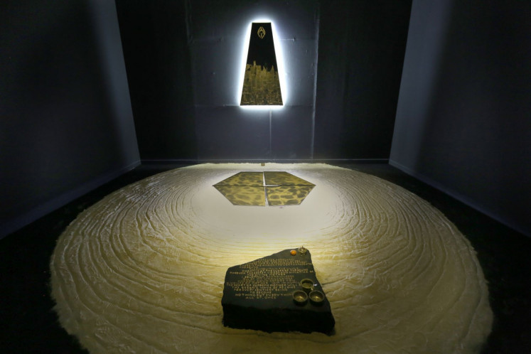 Sound machine: Artist Monica Hapsari explores spiritual beliefs and teachings through her 'Kechari' installation art.