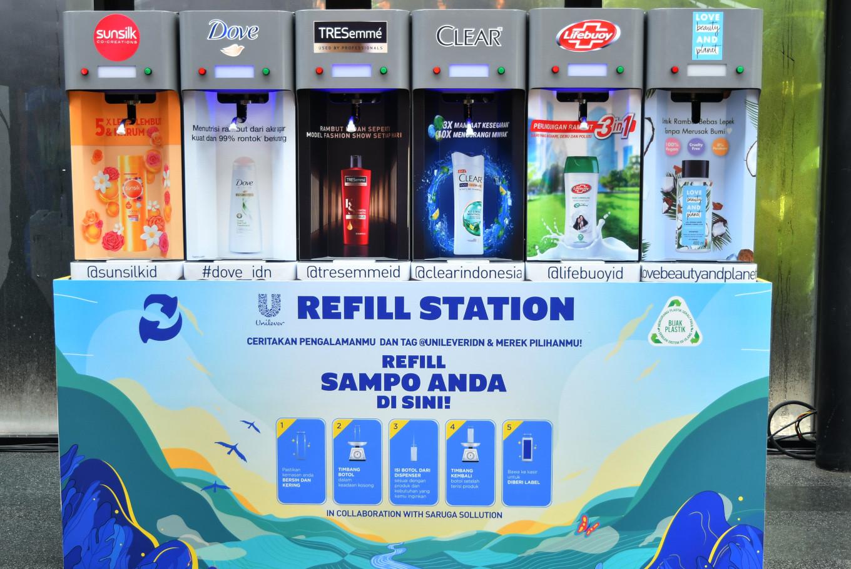 Unilever Indonesia provides refill station in Bintaro