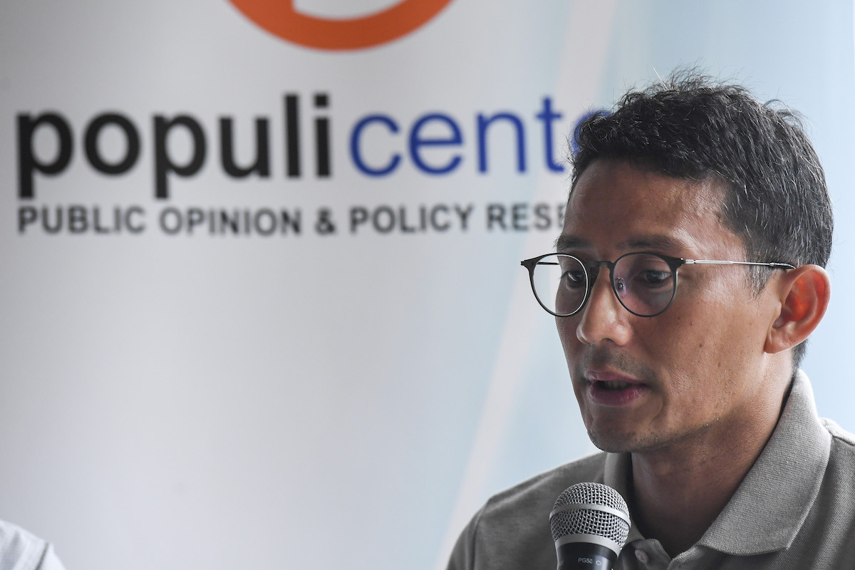 Sandiaga Uno joins campaign team for Jokowi's son-in-law in Medan mayoral race