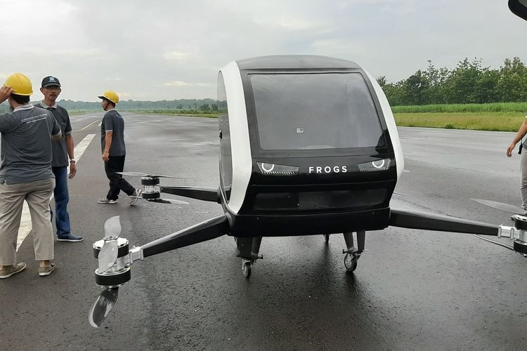 Indonesia's flying taxi prototype takes test flight in Yogyakarta