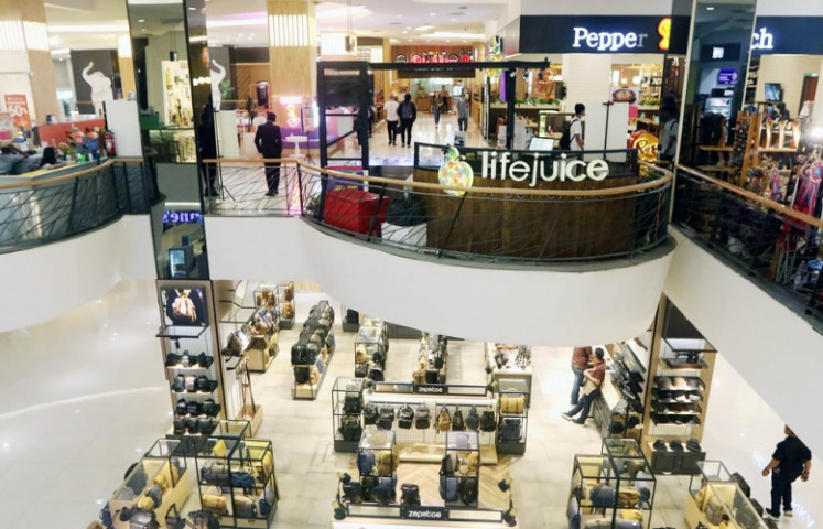 It's oh so quiet: A mall in Senayan, Central Jakarta, is relatively empty of customers as retail businesses face the adverse effects of the COVID-19 coronavirus. The global epidemic is putting the resilience of Indonesia's economy to test.