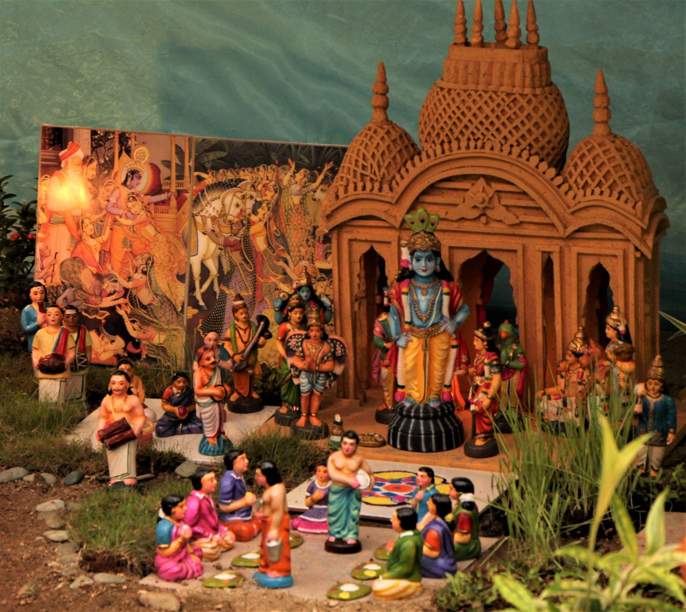 Prayers of devotion: Showcasing Lord Krishna's life in miniatures