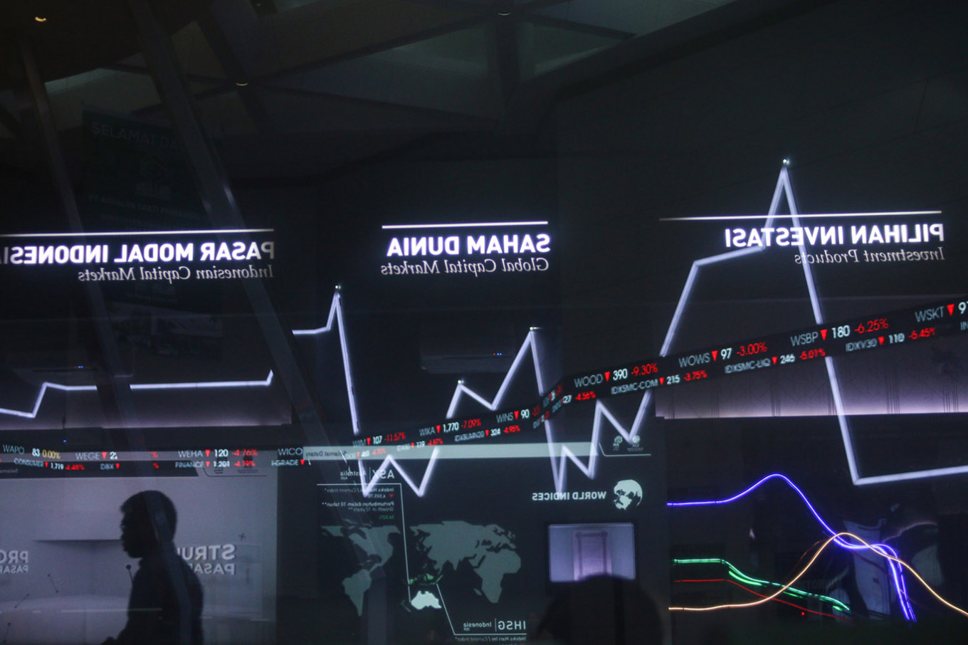 Trading halted third time in week as stocks touch 5-year low, rupiah breaks Rp 15,000 to dollar