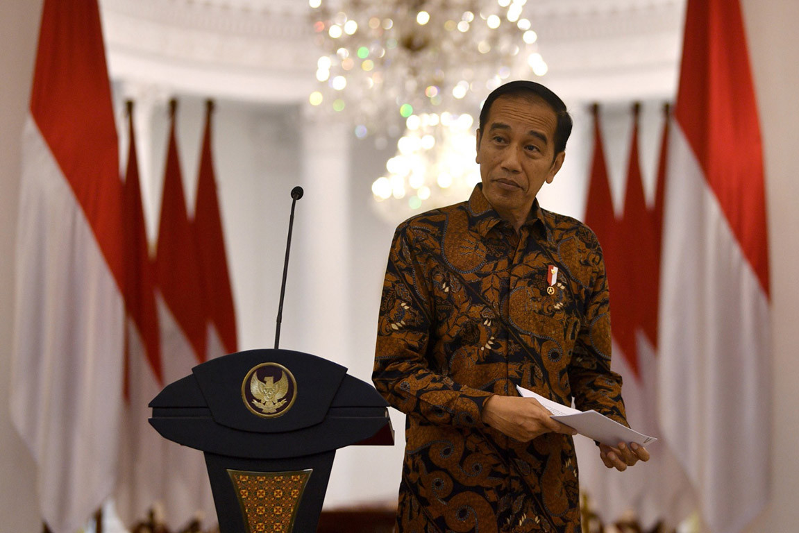 Jokowi orders large-scale social restrictions coupled with 'civil emergency' policies