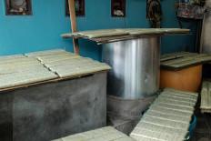 The tempeh Hakim produces comes in various sizes: 500 grams, 800 grams and 1.1 kilograms. JP/ Anggara Mahendra