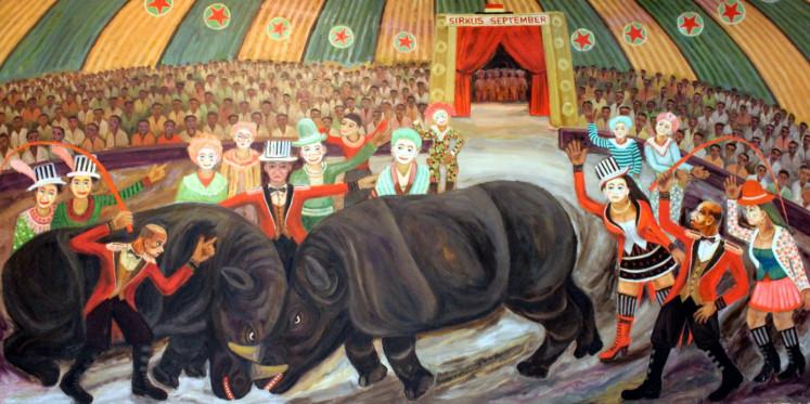 Sirkus September (September circus) by Djoko Pekik