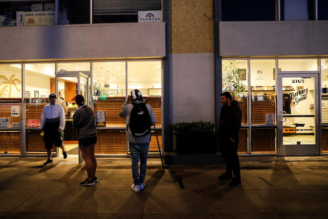 Long lines at San Francisco area cannabis stores exempt from coronavirus lockdown