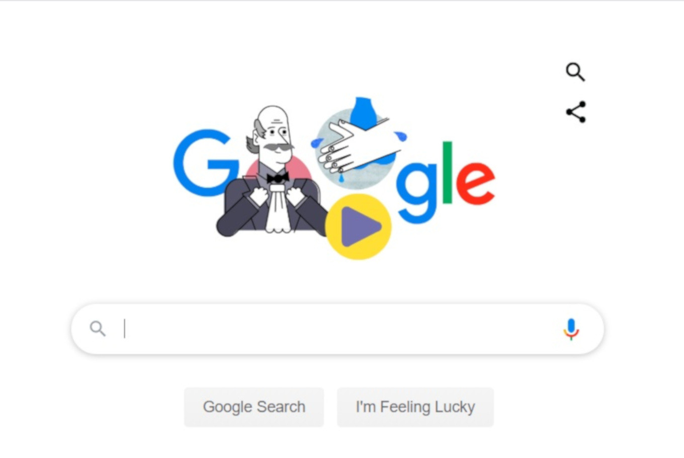 Google Doodle spreads handwashing, recognizes 'father of infection control'