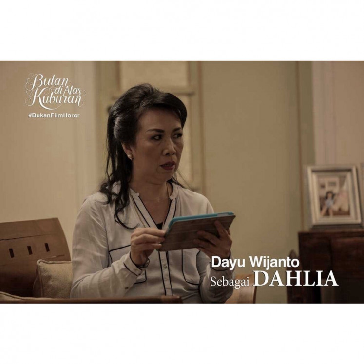 Strong impression: In the press photo of 'Bulan di Atas Kuburan' (Moon over the Graveyard), Dayu Wijanto takes the role of Dahlia. Her brief appearance in the 2014 film gained her praise and landed her on the list of the best actresses.