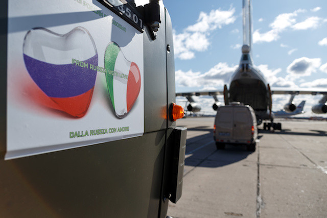 'From Russia with Love': Putin sends aid to Italy to fight virus