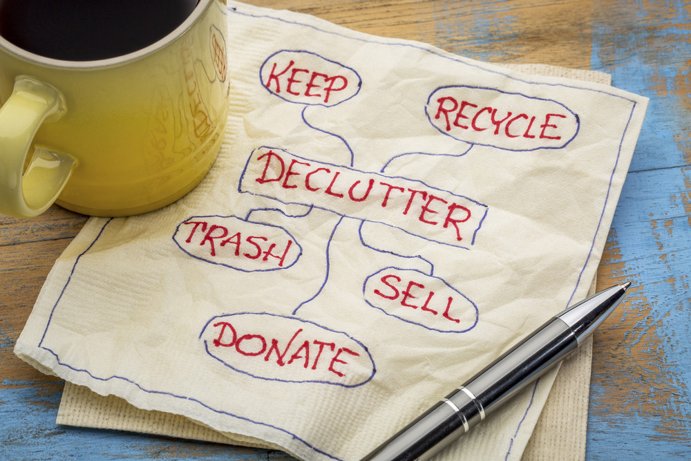 Decluttering during self-isolation