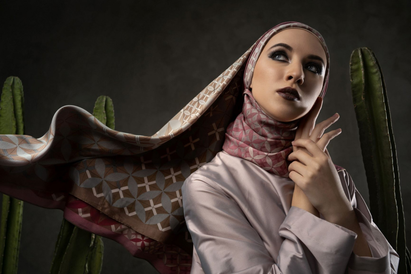 Digital catwalk: Itang Yunasz launches double-sided scarf
