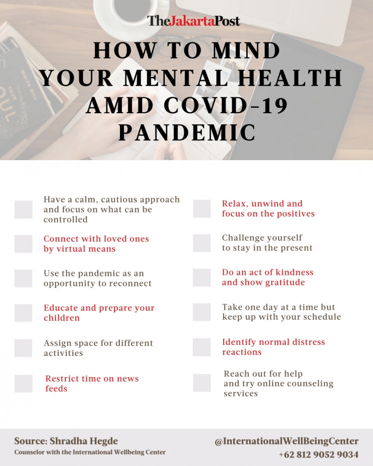 How to mind your mental health amid COVID-19 pandemic