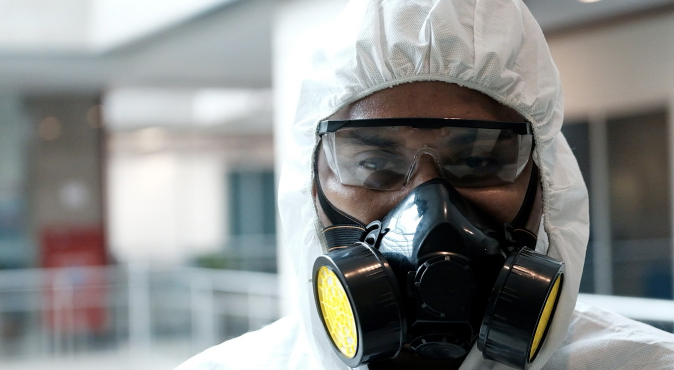 While people stay home, disinfectant staff work even harder