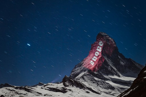 Message of hope shines out from mighty Matterhorn