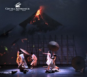 On hold: Theatrical performance 'Under the Volcano' was to have its Jakarta premiere on April 4-5 at Ciputra Artpreneur but due to the pandemic, it is rescheduled to July 4-5.