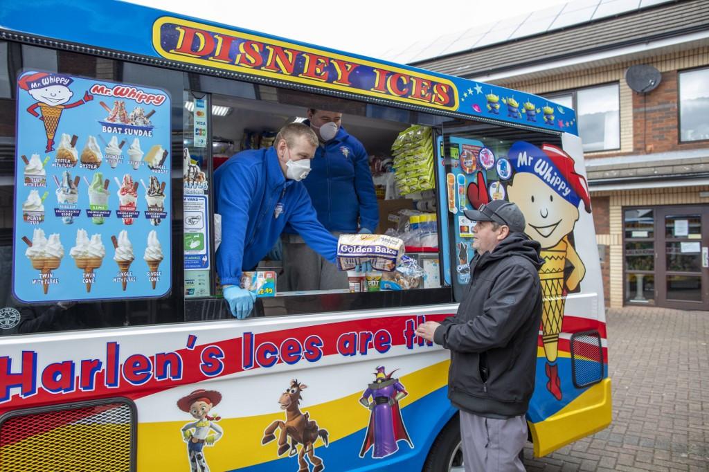 Cone-a-virus: Ice cream van delivers for Belfast's vulnerable