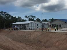 The isolation ward at the COVID-19 hospital on Galang Island, Batam, Riau Islands, on April 1. 2020. JP / Fadli