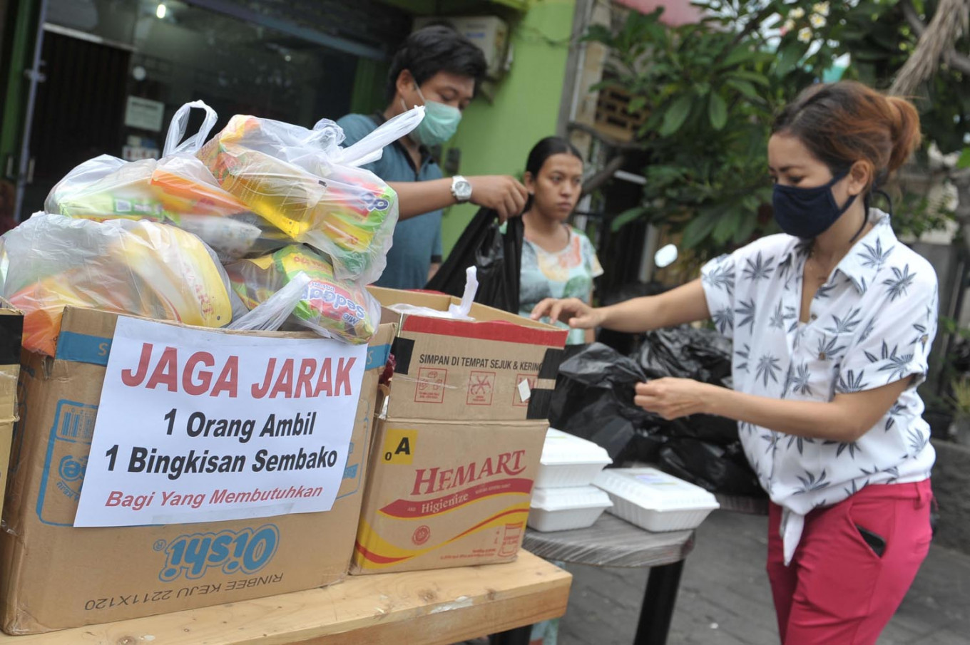 Helping others: Manado LGBT community raises funds for COVID-19 food aid