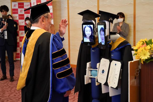 Robots replace Japanese students at graduation amid coronavirus