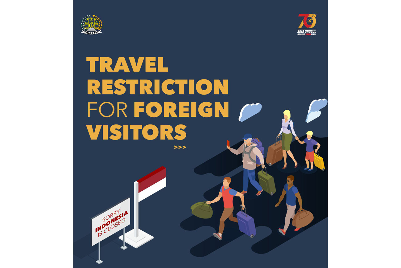 Foreigners banned from entering Indonesia