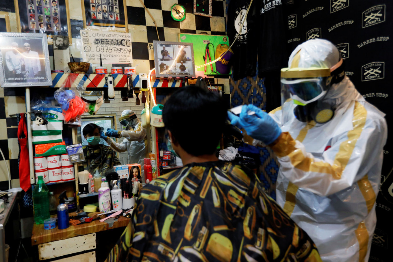 Indonesian barber gears up to groom during coronavirus - City ...