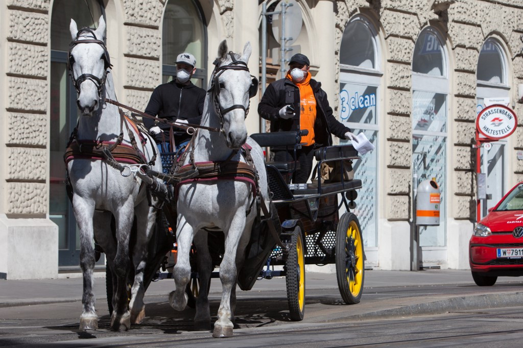 Vienna's horse-drawn carriages ride again, for food delivery