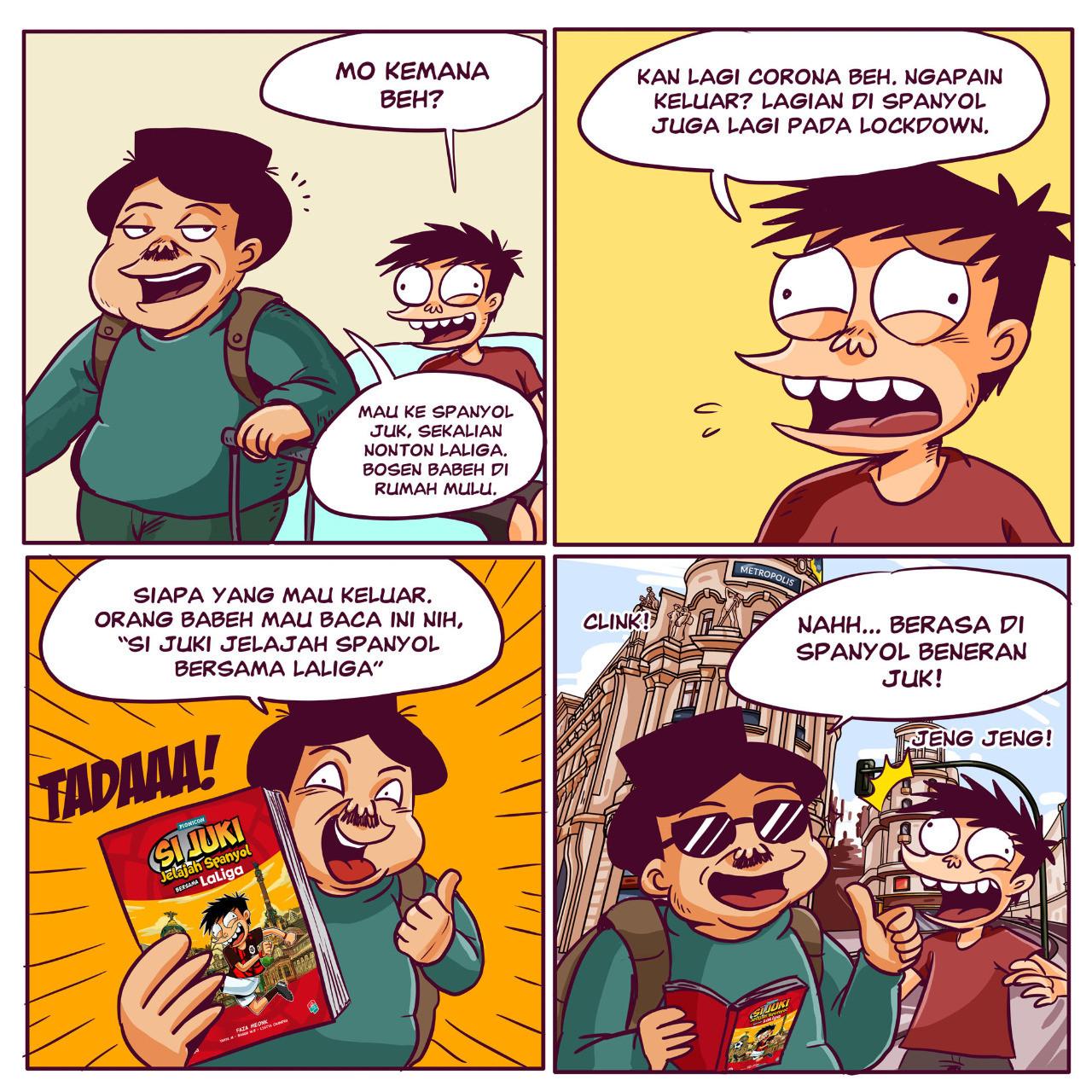 Si Juki lands in Spain, explores La Liga in new comic to promote social distancing