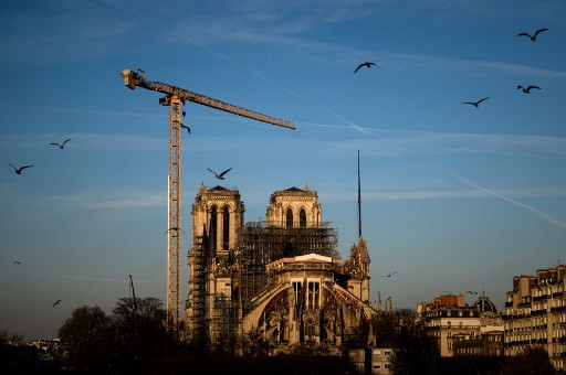 Lone bell chime marks Notre-Dame fire anniversary