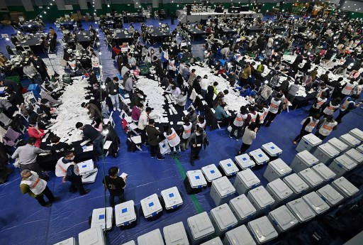 South Korea ruling party wins parliamentary majority