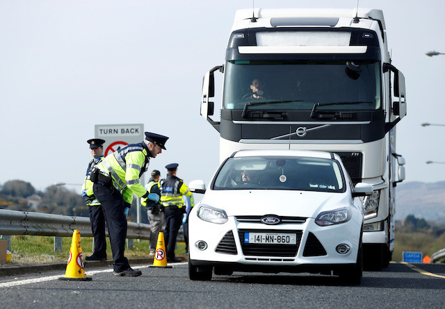 Coronavirus checkpoints help Irish police seize drugs, weapons