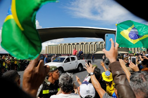 Brazilian President Jair Bolsonaro joins protest against coronavirus lockdown