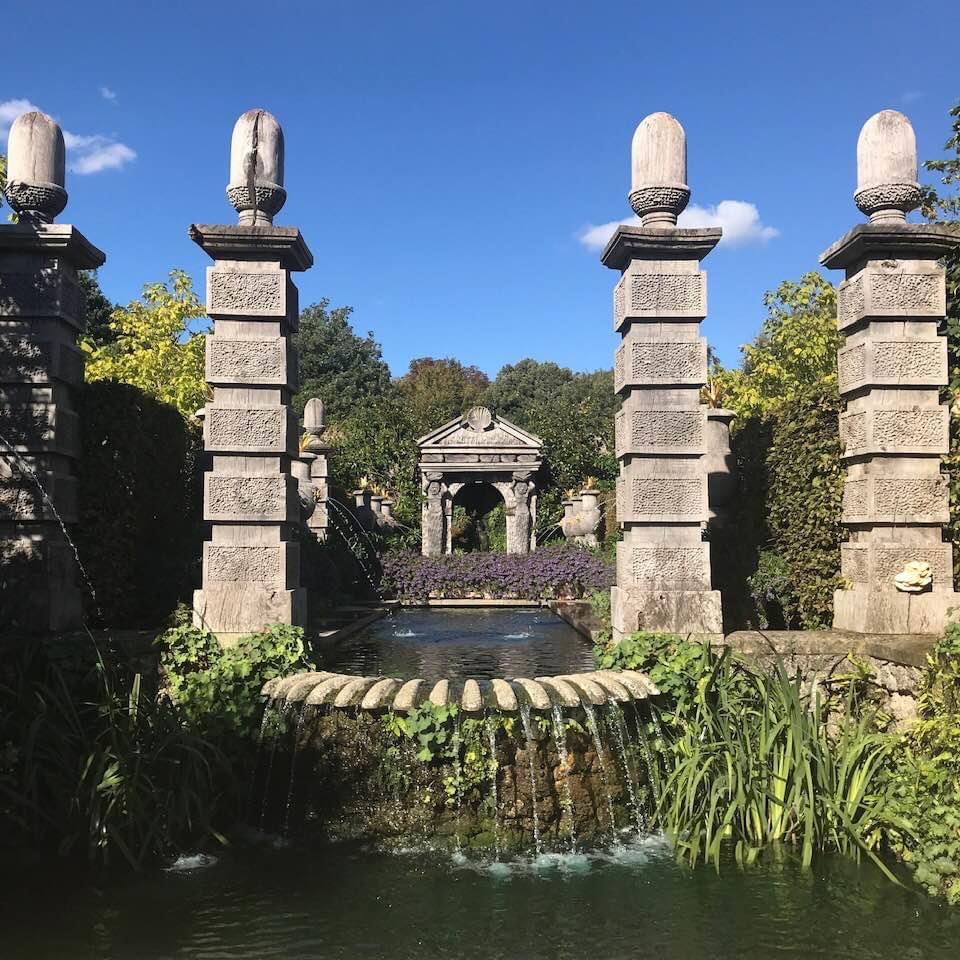 The garden inside Arundel Castle