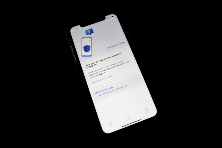 Contact tracing app TraceTogether, released by the Singapore government to curb the spread of the coronavirus disease (COVID-19) is seen on a mobile phone, in Singapore on March 25, 2020.
