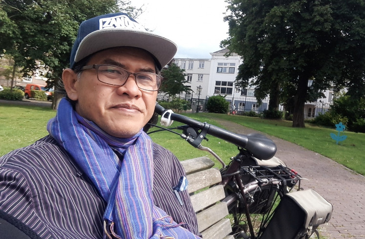 On the master's trail: Kurnia Effendi's selfie shows the award-winning author in 2017 in the Netherlands, where he was researching the life of Indonesian master painter Raden Saleh for the double-plot novel he co-wrote with Iksaka Banu, 'Pangeran dari Timur' (The Prince from the East).