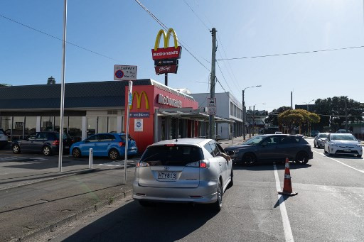 Burgers, fries and coffee: New Zealanders rush for fast food as lockdown eases