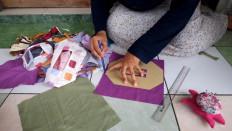 Dwi Rahayu Februarti, 41, creates transparent face masks at her home in Sleman, Yogyakarta. JP/Arnold Simanjuntak